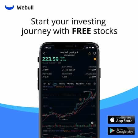 a quick overview of the WeBull app